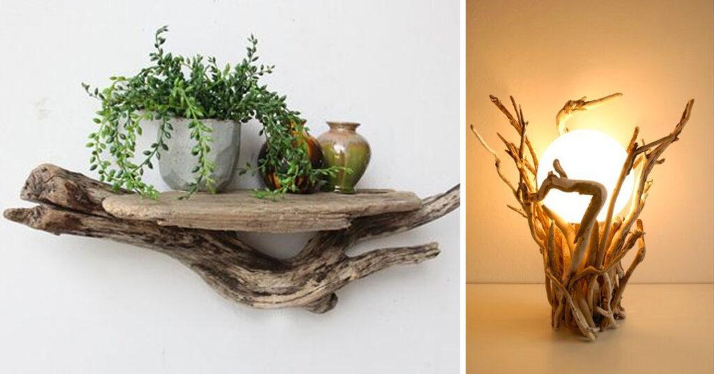 idées DIY avec du bois flotté