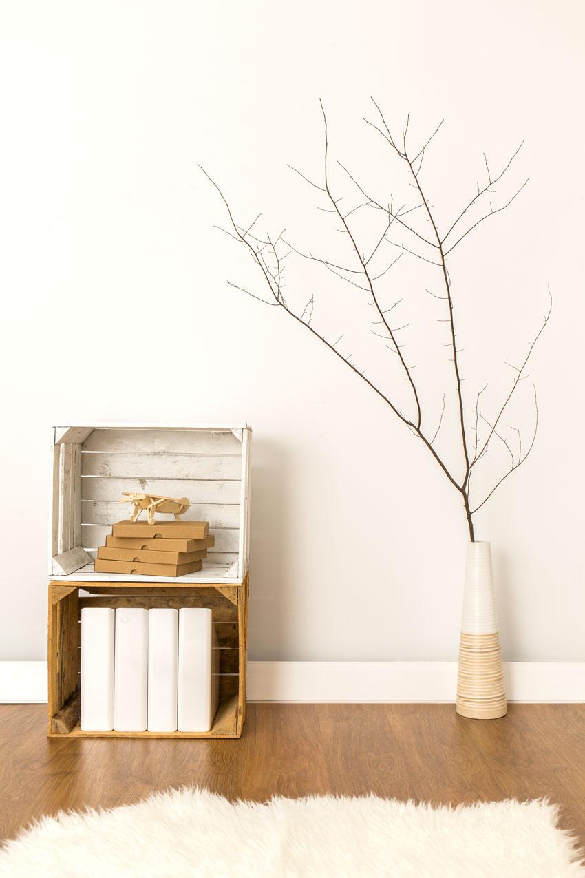caisses en bois décoration d'intérieur