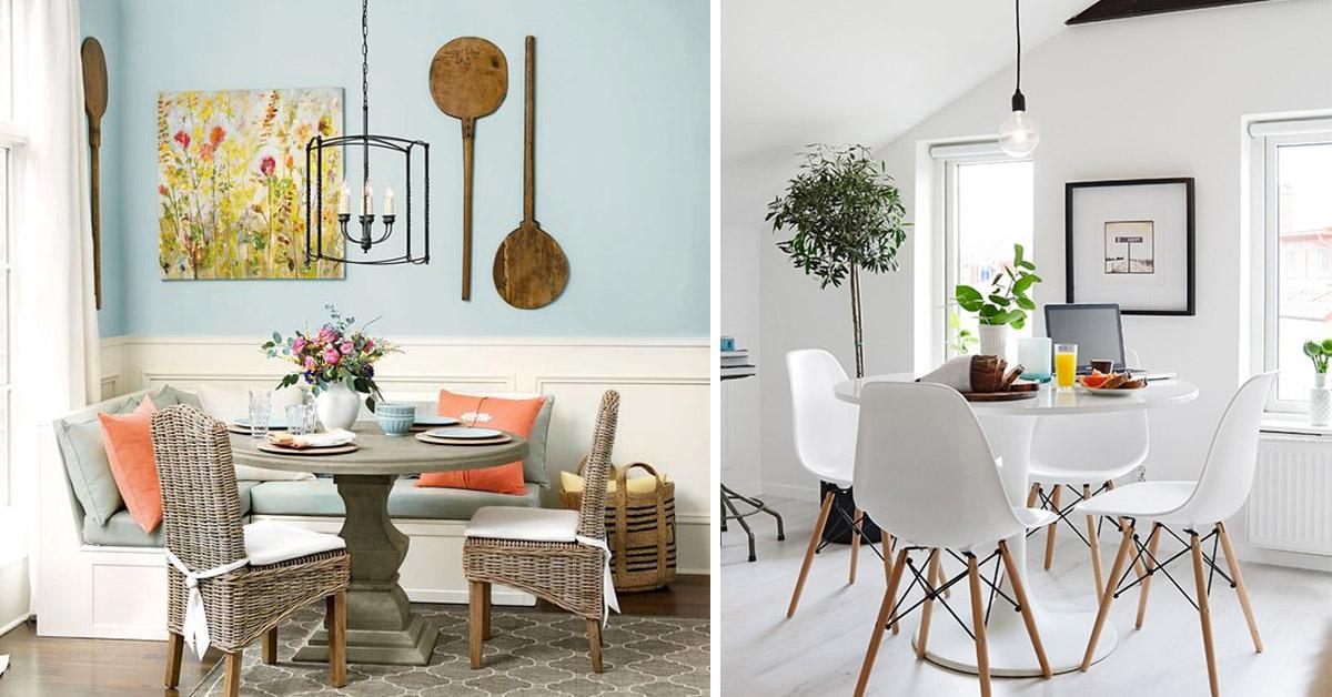 Idées pour aménager une petite salle à manger.