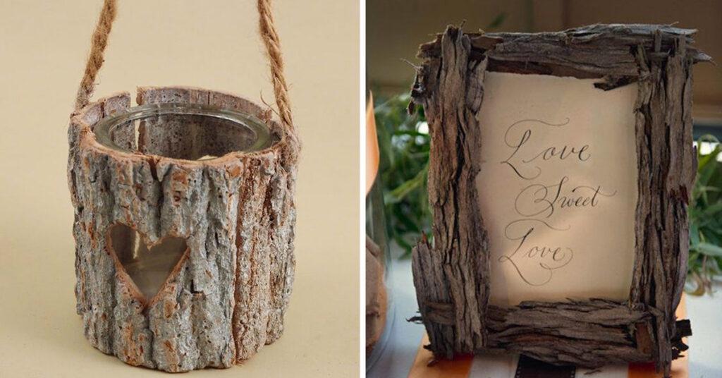 idées déco DIY écorces d'arbres.