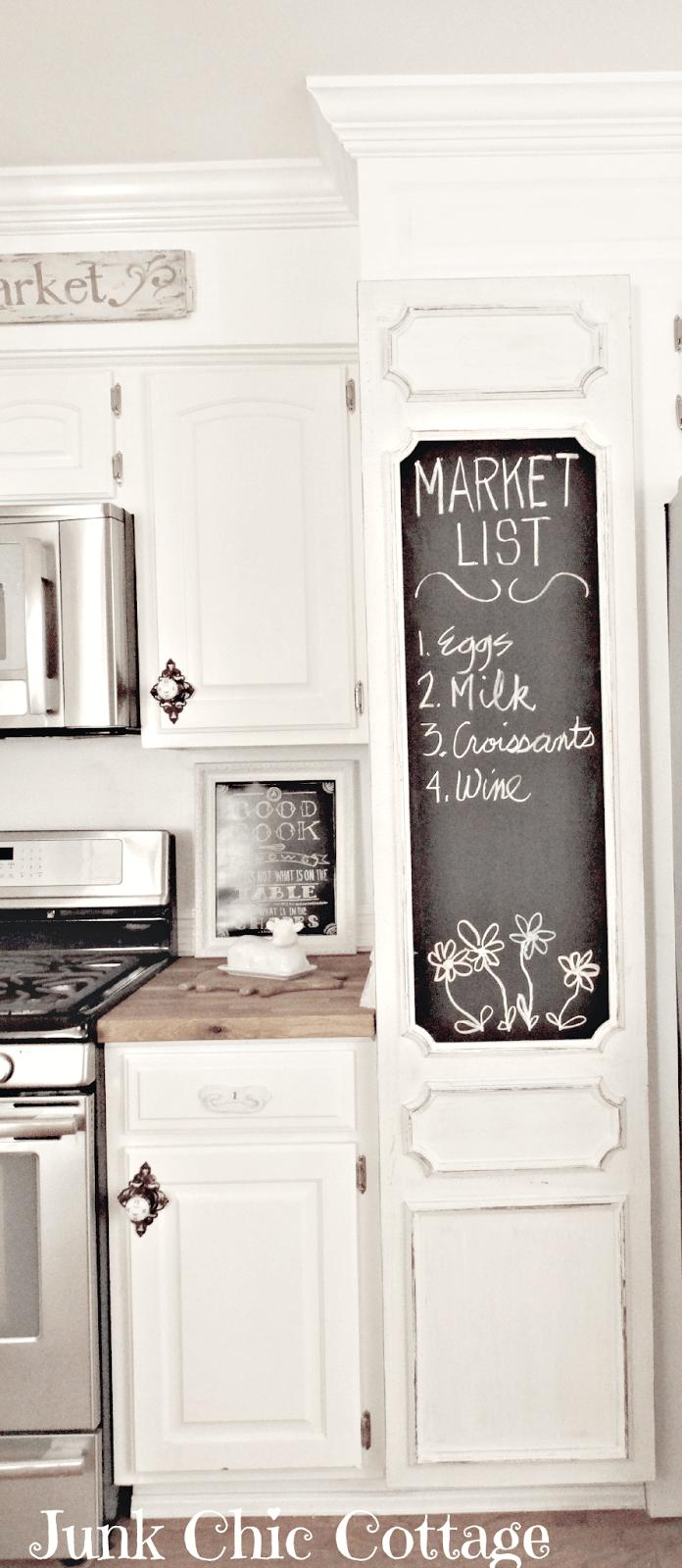 Meuble cuisine avec peinture ardoise, idéal pour un style country.