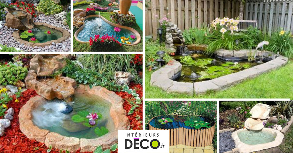 construire un bassin de jardin pour poissons ou tortues