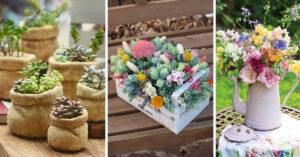 pots de fleurs en objets de récuperation