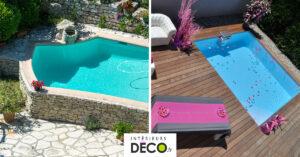 Idées piscines sur terrasse ou différence de hauteur jardin.