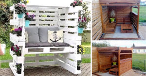 Tonnelle de jardin DIY en bois de palettes
