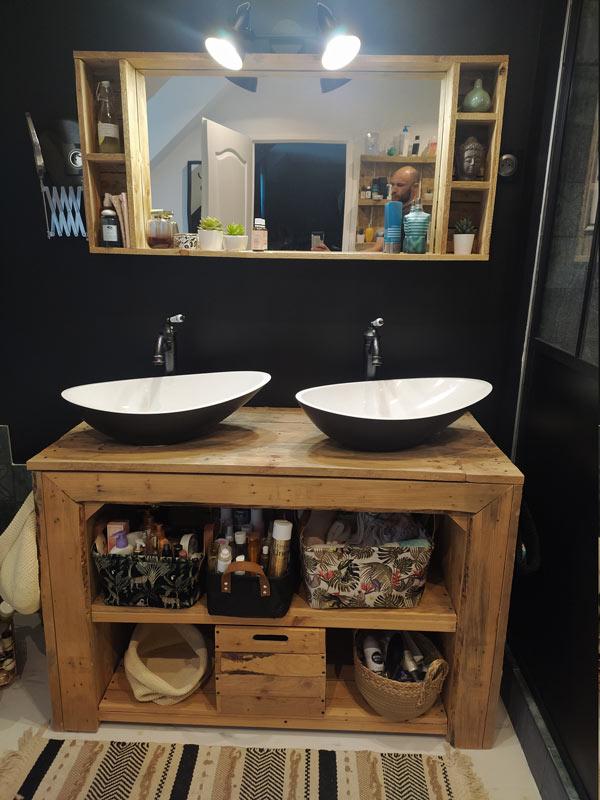Meubles En Palette Pour La Salle De Bain Avec Des Palettes 15 Idees Diy