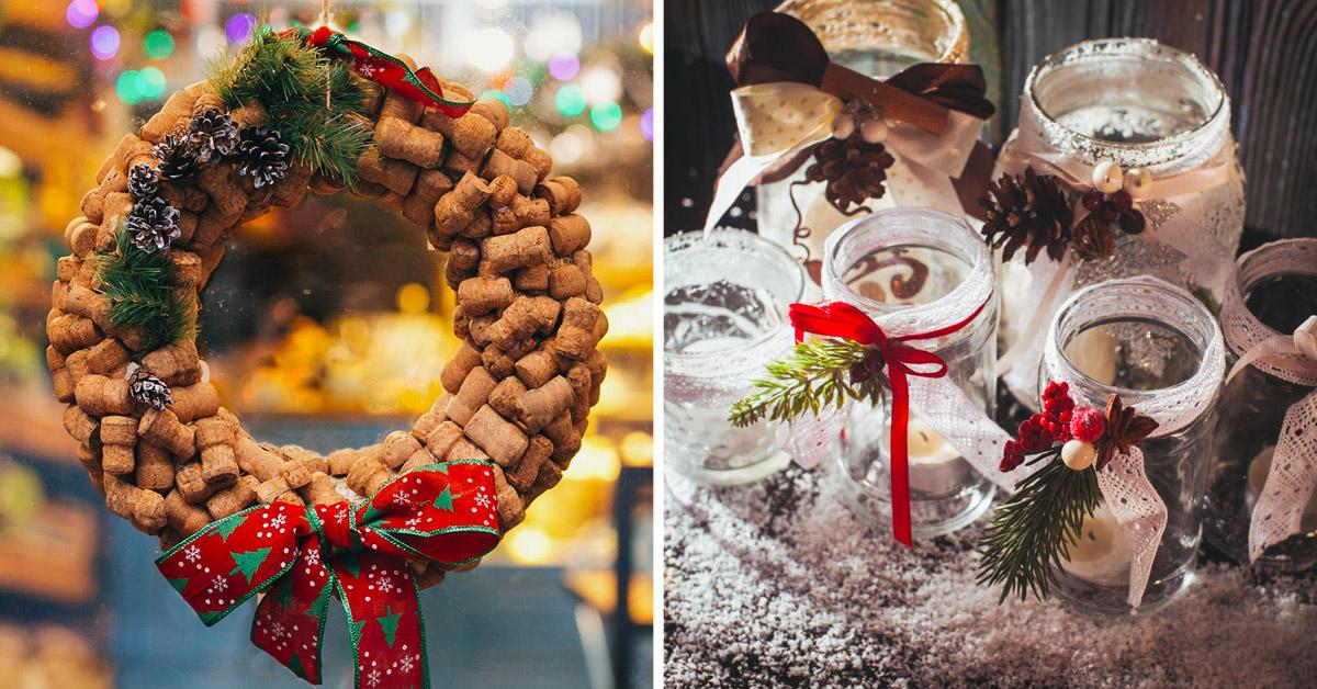 idées récup pour décorer Noël
